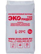 Антигололедный реагент ЭКОЛИДЕР ТОП (25 кг) эффективен до -25ºС